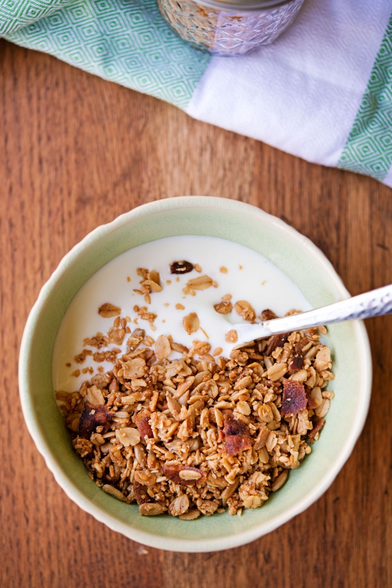 Gluten Free Maple Bacon Granola | Garlic, My Soul