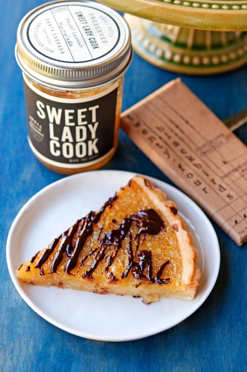 Meyer Lemon Marmalade & Chocolate Tart | Garlic, My Soul