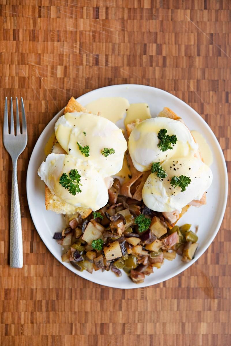Eggs Benedict & Homefries   Garlic, My Soul
