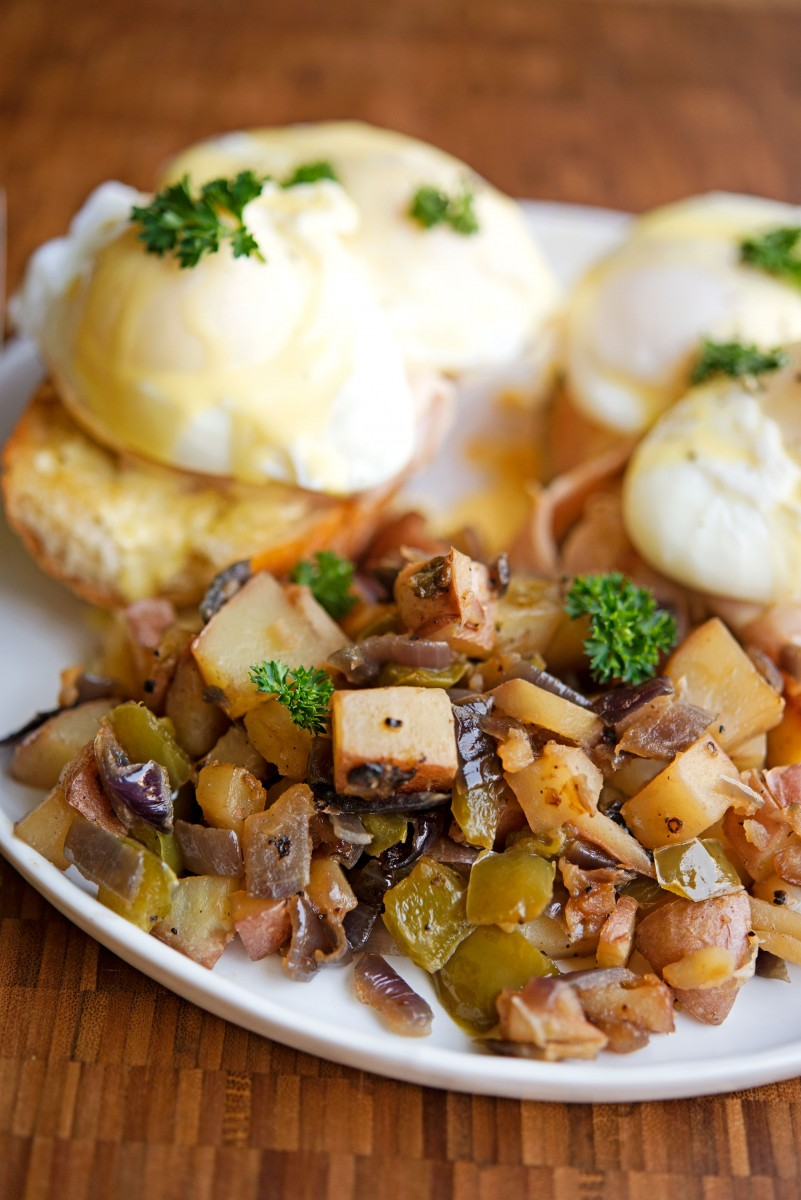 Eggs Benedict & Homefries | Garlic, My Soul