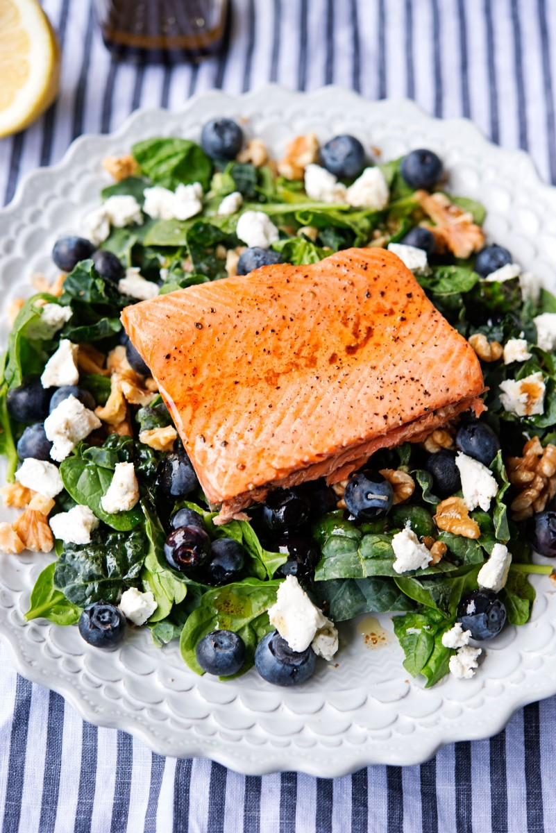 Salmon Walnut Salad | Garlic, My Soul