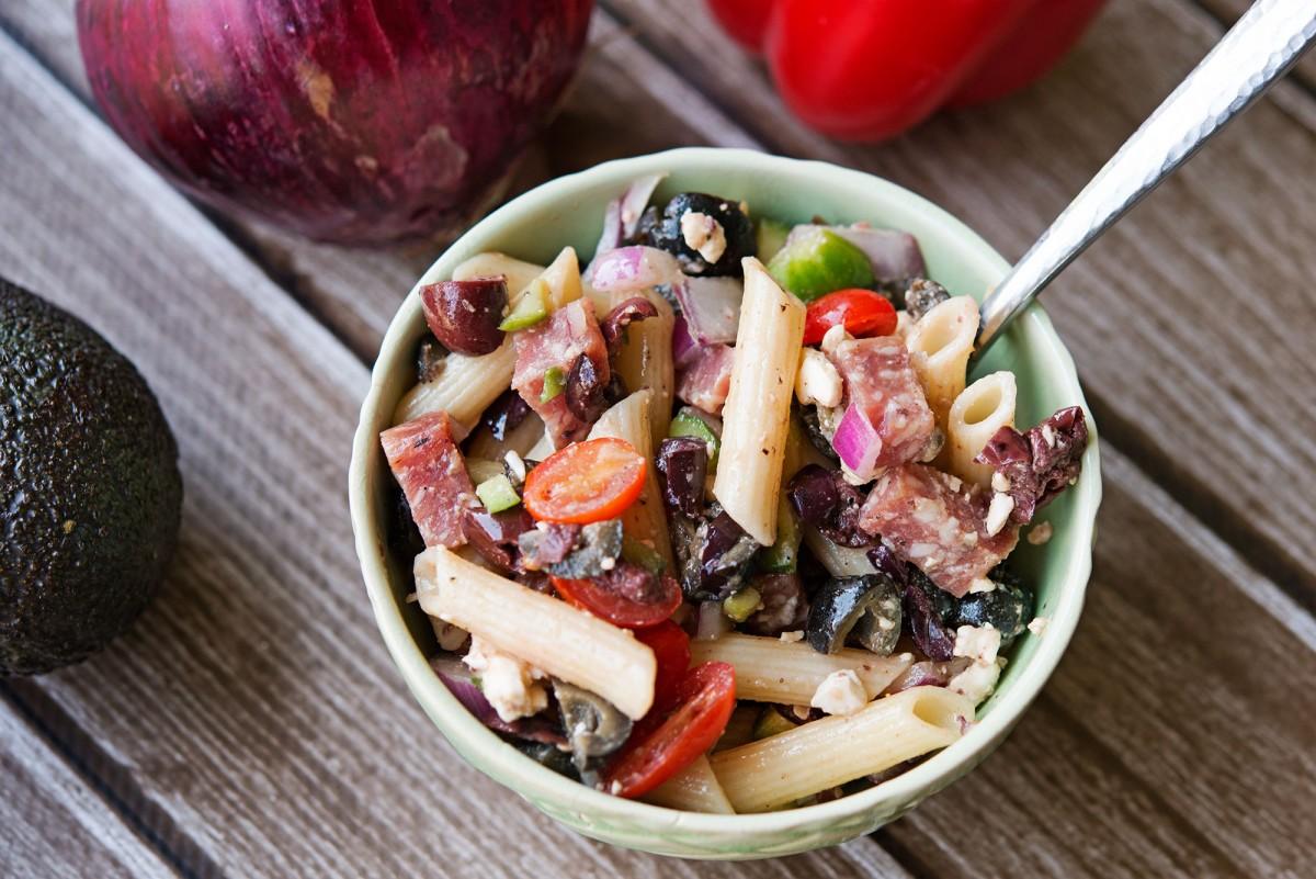 GF Mediterranean Pasta Salad