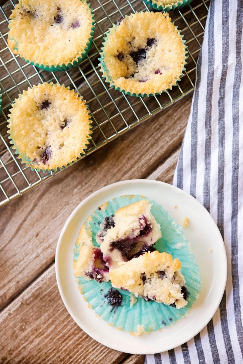 Blueberry Cobbler Muffins | Garlic, My Soul