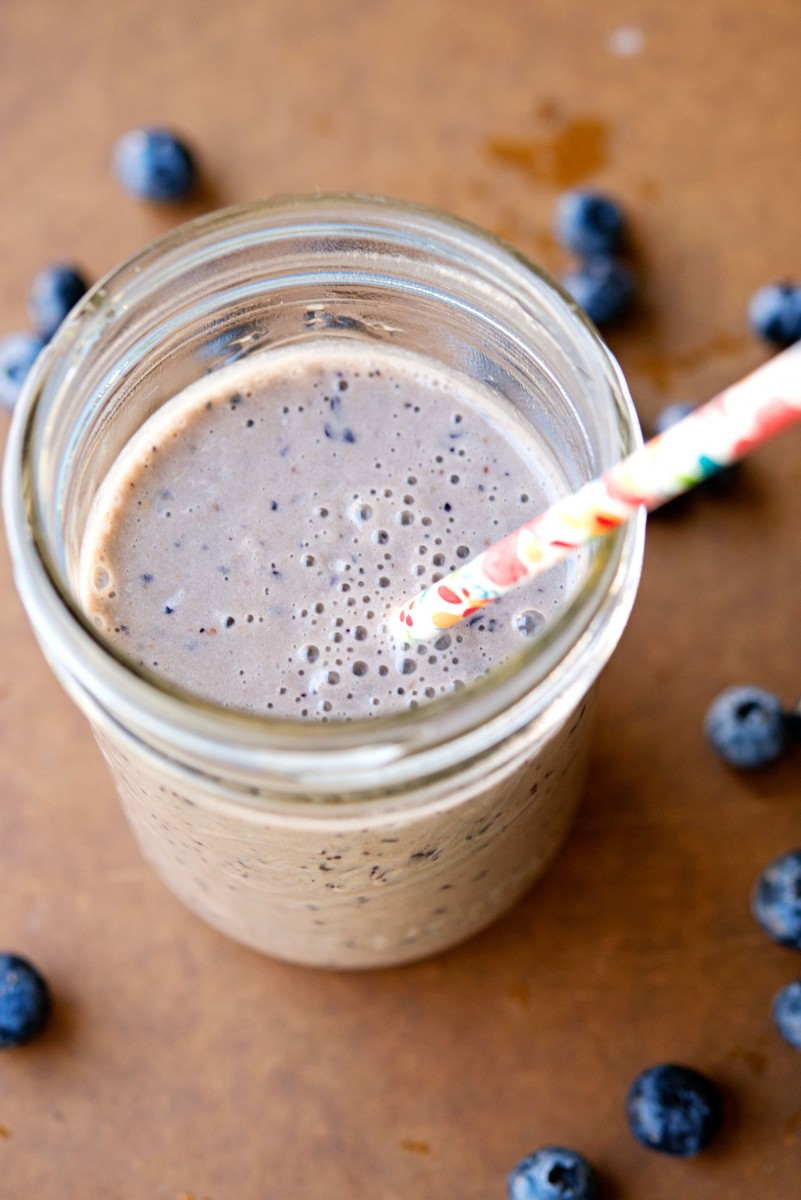 PB + Banana + Blueberry Smoothie | Garlic, My Soul
