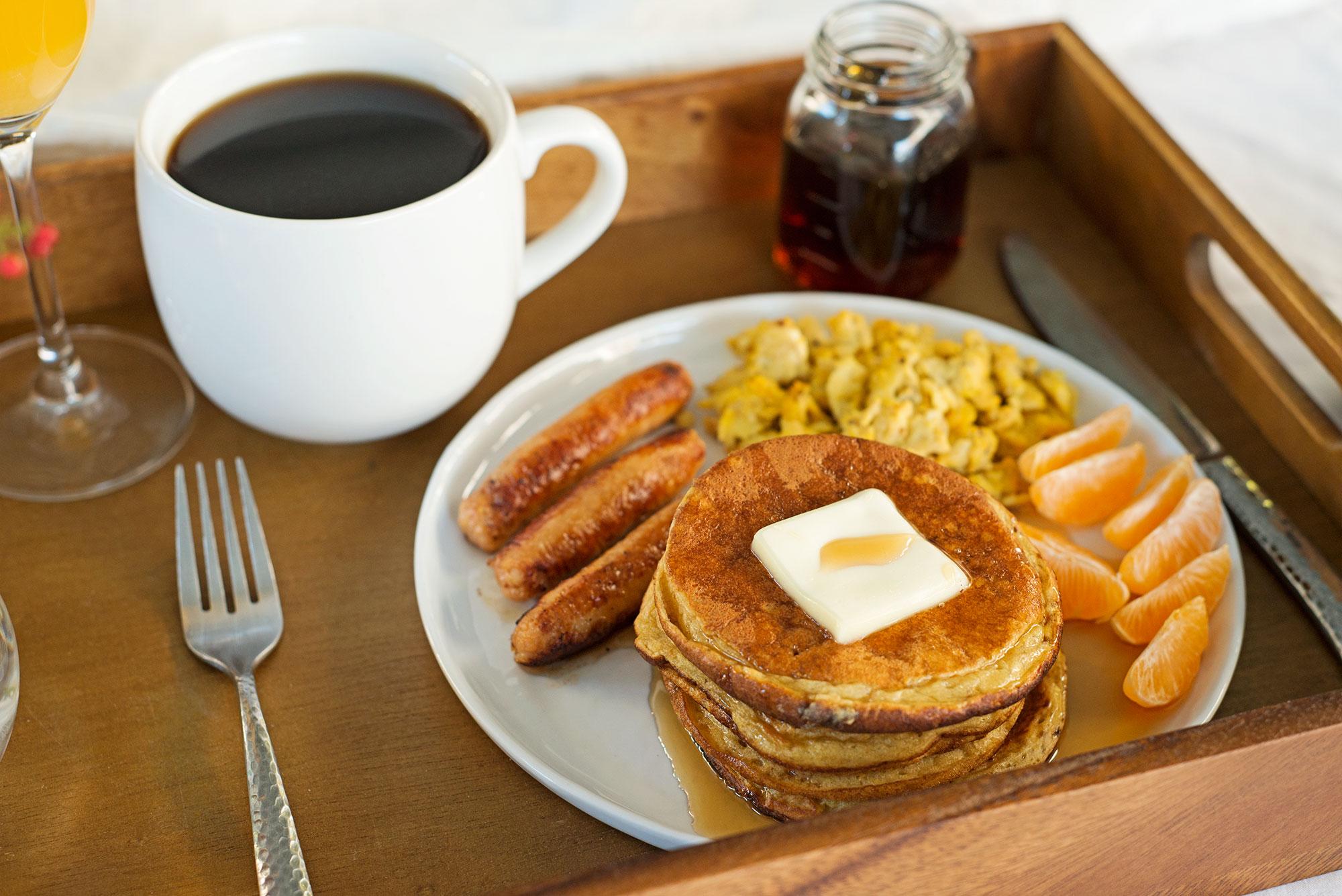 Garlic My Soul Breakfast In Bed Sourdough Pancakes Eggs