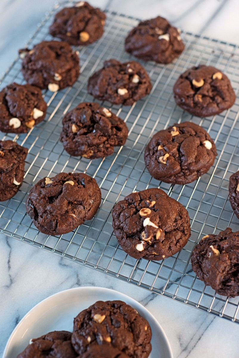 Brownie Trip-Chip Cookies
