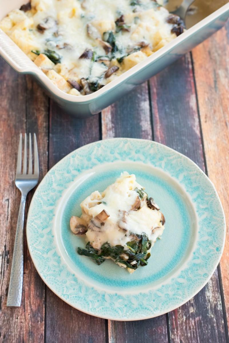 Mushroom & Spinach Strata | Garlic, My Soul