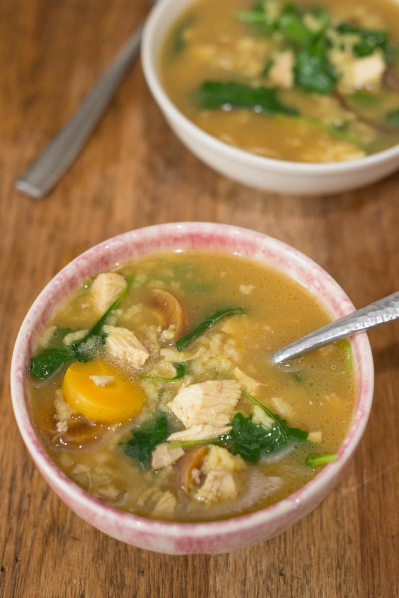 Saffron Chicken Soup with Kale | Garlic, My Soul