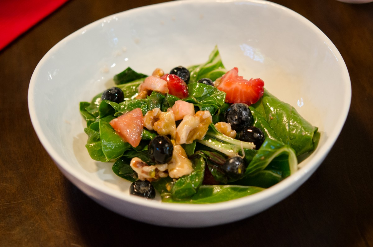 Chard & Blueberry Salad | Garlic, My Soul
