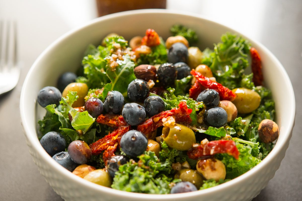 Blueberry Nut Salad with Sumac Dressing | Garlic, My Soul