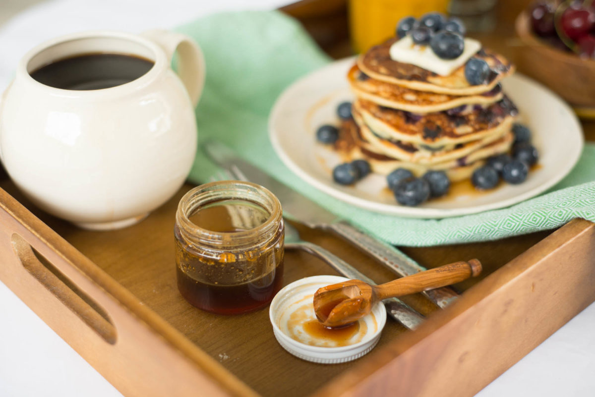 Honey Blueberry Pancakes | Joie De Vivre Hotels | Garlic, My Soul