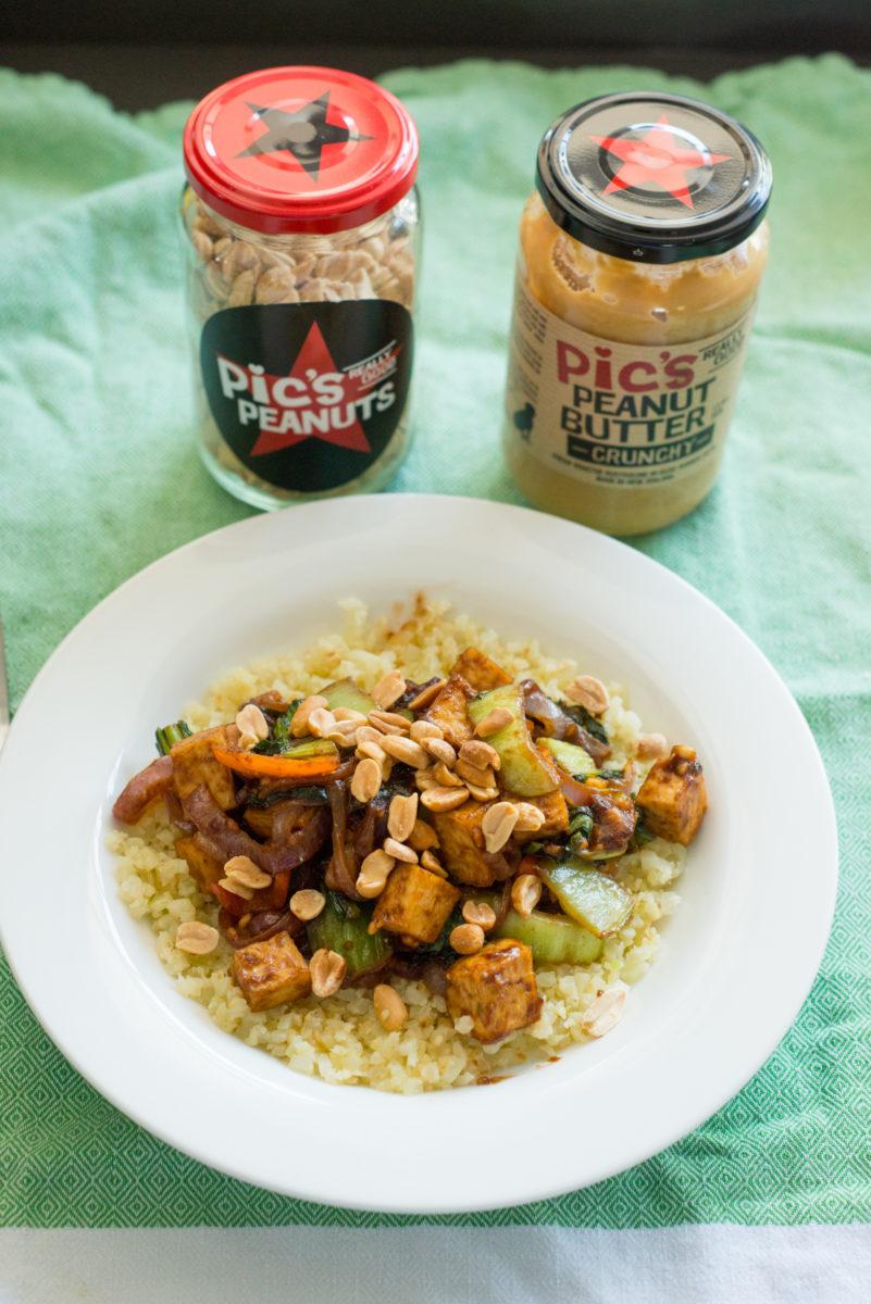 Tofu Stirfry with Peanut Sauce | Garlic, My Soul
