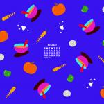 October Desktop Calendar